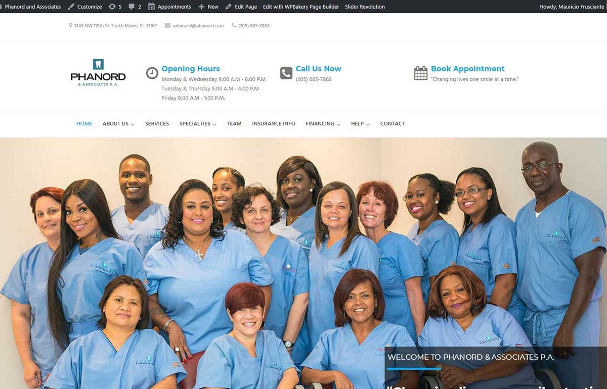 Web Design-Dentist-Phanord-North Miami-Fl