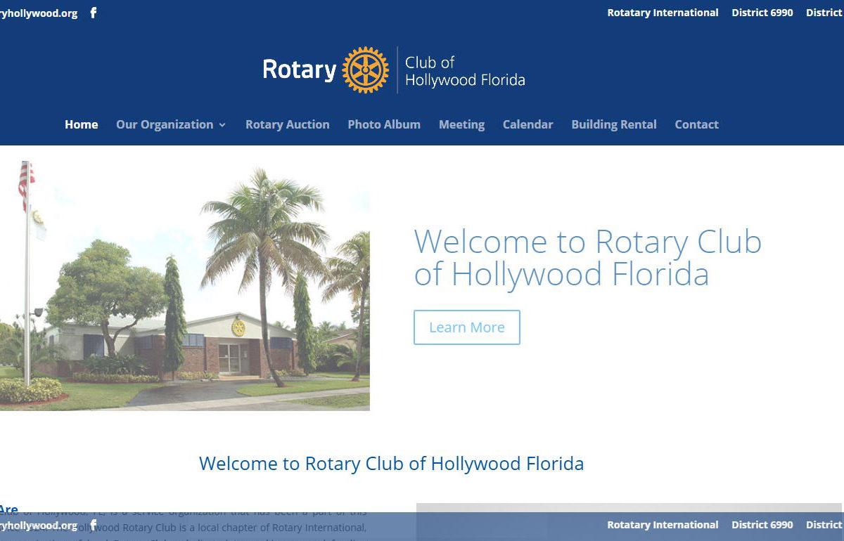 Web Design-RotaryHollywood-Hollywood-Fl