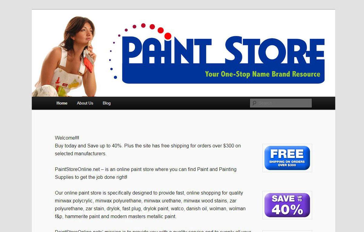 Web Design-Paint Store Online-Miami-Fl